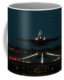 Airbus A380 Take-off At Dusk Coffee Mug