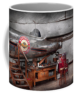 Airplane - The Repair Hanger  Coffee Mug by Mike Savad