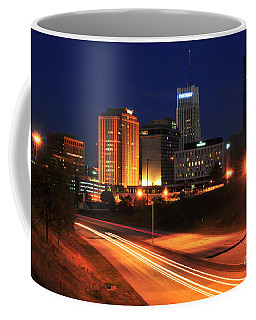 D1u-140 Akron Ohio Night Skyline Photo Coffee Mug