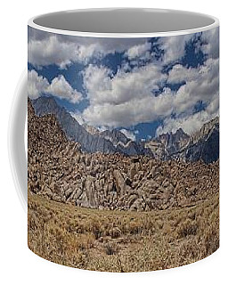 Alabama Hills And Eastern Sierra Nevada Mountains Coffee Mug by Peggy Hughes