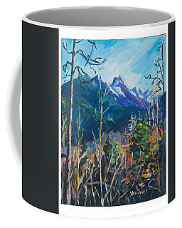 Coffee Mug featuring the painting Alaska Autumn by Yulia Kazansky