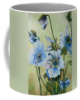 Coffee Mug featuring the painting Alaska Blues by Betty-Anne McDonald
