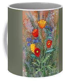 Alaska Poppies And Forgetmenots Coffee Mug