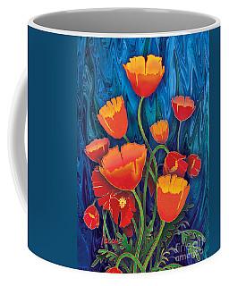 Coffee Mug featuring the mixed media Alaska Poppies by Teresa Ascone