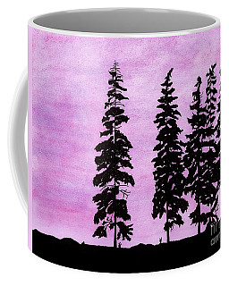 Coffee Mug featuring the drawing Colorful - Alaska - Sunset by D Hackett