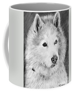 Alaskan Malamute Drawing Mardi Coffee Mug