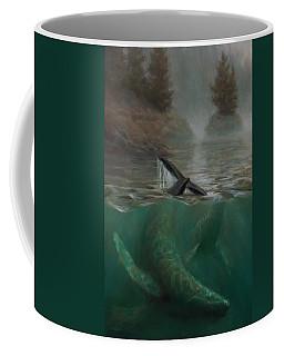 Humpback Whales - Underwater Marine - Coastal Alaska Scenery Coffee Mug