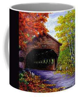 Coffee Mug featuring the painting Albany Covered Bridge by Sandra Estes