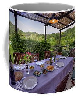 Alfresco Dining In Tuscany Coffee Mug