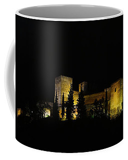 Coffee Mug featuring the photograph Alhambra At Night by Rudi Prott
