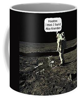 Alice Kramden On The Moon Coffee Mug by David Dehner