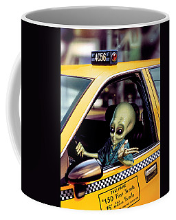Alien Cab Coffee Mug