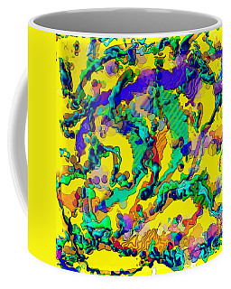 Coffee Mug featuring the digital art Alien Dna by Alec Drake