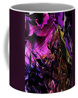 Coffee Mug featuring the digital art Alien Floral Fantasy by David Lane