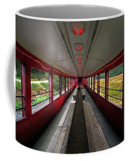Coffee Mug featuring the photograph All Aboard Tioga Central Railroad by Suzanne Stout