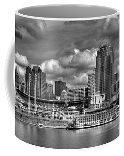 Coffee Mug featuring the photograph All American City Bw by Mel Steinhauer