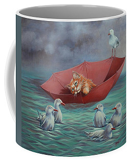 Coffee Mug featuring the painting All At Sea by Cynthia House