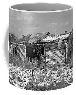 Coffee Mug featuring the photograph All But Gone Black And White by Victor Montgomery