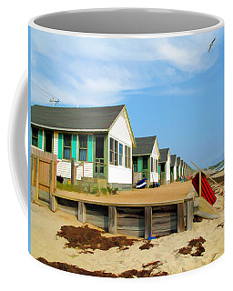 Coffee Mug featuring the photograph All In A Row by Barbara McDevitt