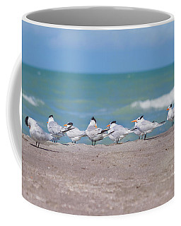 Coffee Mug featuring the photograph All In A Row by Kim Hojnacki