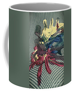 Coffee Mug featuring the painting All In by Jacqueline McReynolds