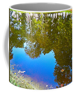 Coffee Mug featuring the photograph All Pond Treeflection by Nick Kirby