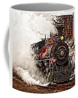 Coffee Mug featuring the photograph All Steamed Up by Mary Jo Allen