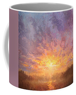Impressionistic Sunrise Landscape Painting Coffee Mug by Karen Whitworth