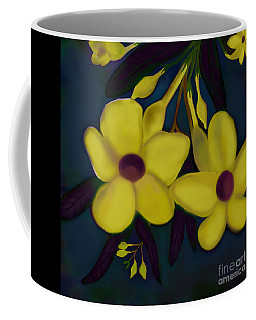 Allamandas At Night Coffee Mug by Latha Gokuldas Panicker