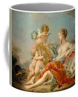 Allegory Of Music Coffee Mug by Francois Boucher