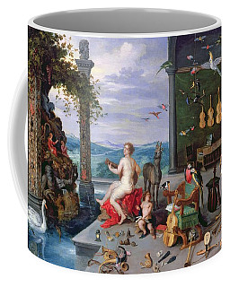 Allegory Of Music Oil On Canvas Coffee Mug
