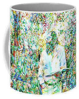 Allen Ginsberg Reading At The Park Coffee Mug