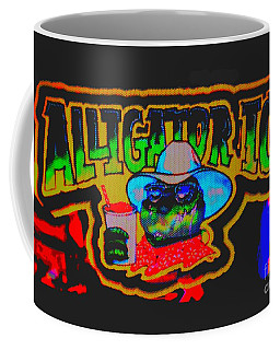 Coffee Mug featuring the photograph Alligator Ice Painted by Kelly Awad
