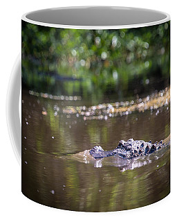 Alligator Swimming In Bayou 1 Coffee Mug