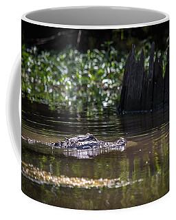 Alligator Swimming In Bayou 2 Coffee Mug