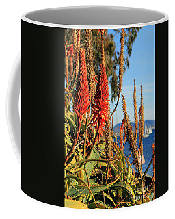 Aloe Vera Bloom Coffee Mug by Mariola Bitner