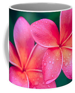Aloha Hawaii Kalama O Nei Pink Tropical Plumeria Coffee Mug