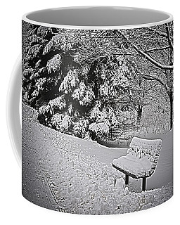 Coffee Mug featuring the photograph Alone In The Park.... by Deborah Klubertanz