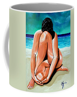Coffee Mug featuring the painting Alone With My Thoughts by Jackie Carpenter