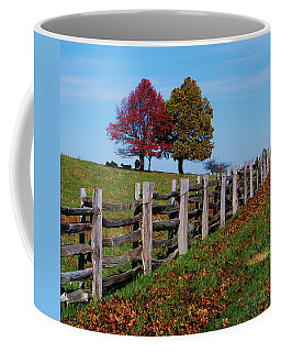 Along The Fence Coffee Mug by Eric Liller
