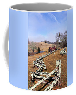 Along The Locust Rails Coffee Mug
