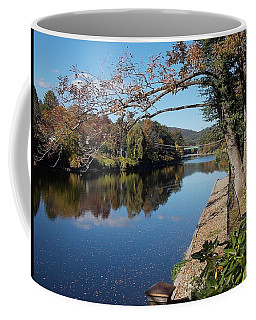 Along The River In Shelbourne Falls Coffee Mug
