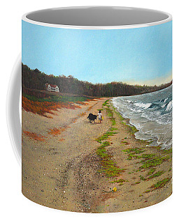 Along The Shore In Hyde Hole Beach Rhode Island Coffee Mug