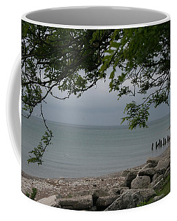 Coffee Mug featuring the photograph Along The Shore by Kay Novy
