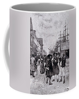 Along The Water Front In Old New York, Illustration From The Evolution Of New York By Thomas A Coffee Mug