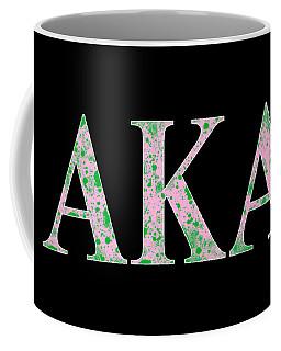 Alpha Kappa Alpha - Black Coffee Mug