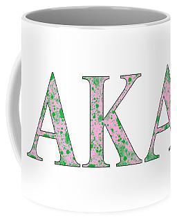 Alpha Kappa Alpha - White Coffee Mug