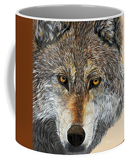 Coffee Mug featuring the painting Alpha Male by Debbie Chamberlin