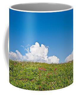 Alpine Meadow And Cloud Formation Coffee Mug