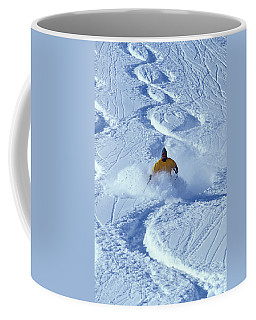 Alpine Skiing In Powder Coffee Mug